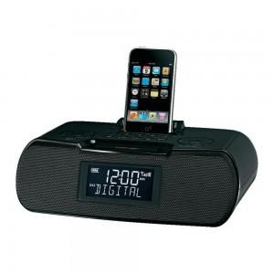 DAB clockradio fra Sangean med Iphone/Ipod dock
